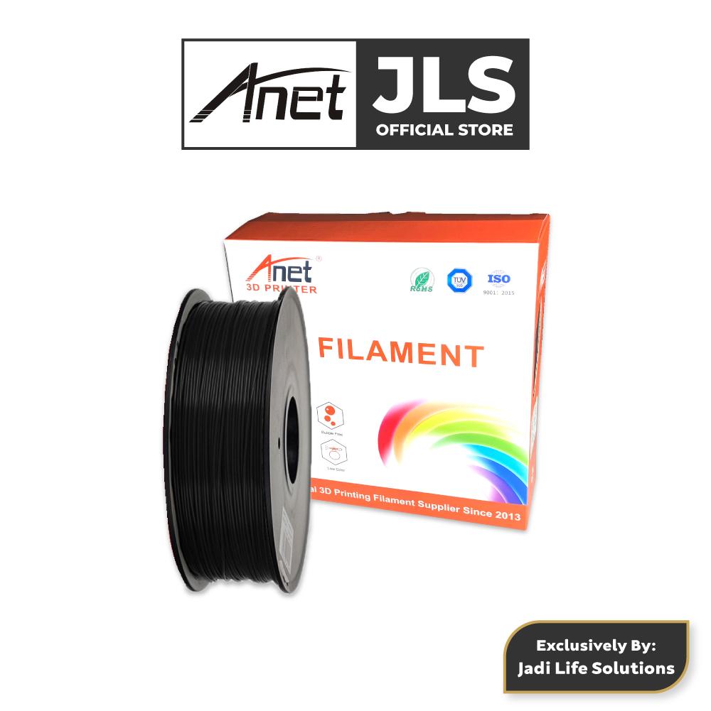 ANET 340M 1.75MM PLA 3D Printing Filament Biodegradable Material (BLACK)