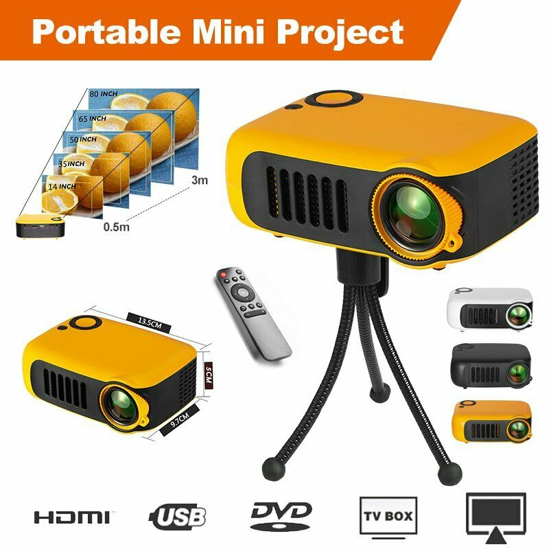 """""""Projector Mini Multifunctional Projector Portable Home Mini Projector A2000 Projector Resolution Android WIFI Proyector LED Portable HD Beamer for Home Cinema 4.8"""""""