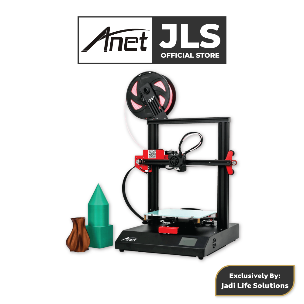 Anet ET4 All-Metal 3D Printer With Industrial Grade Chipset + 5x Black PLA - JADI LIFE
