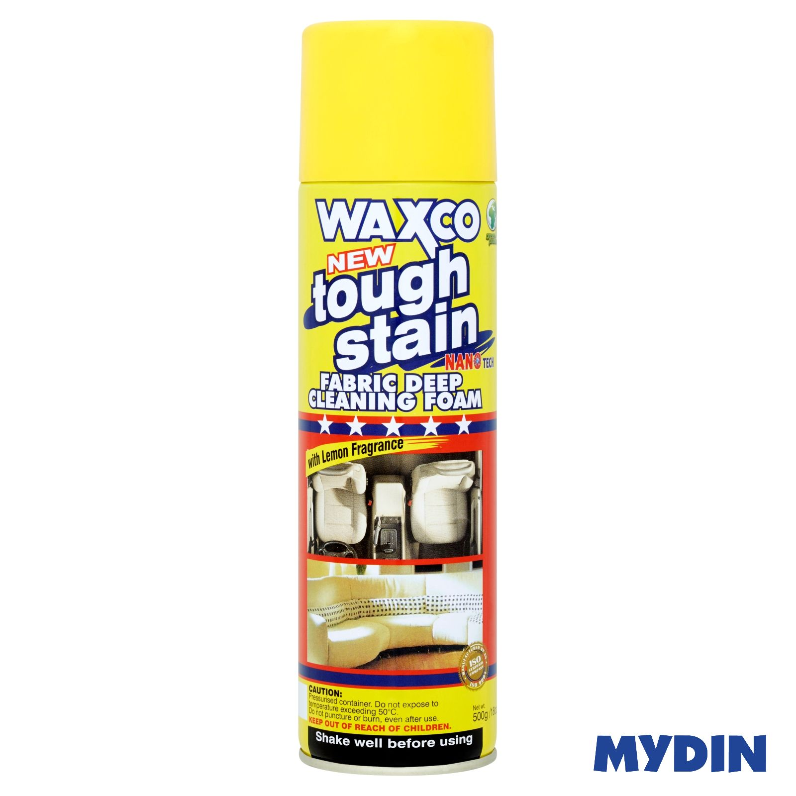 Waxco Tough Stain Fabric Deep Cleaning Foam with Lemon Fragrance (500g)