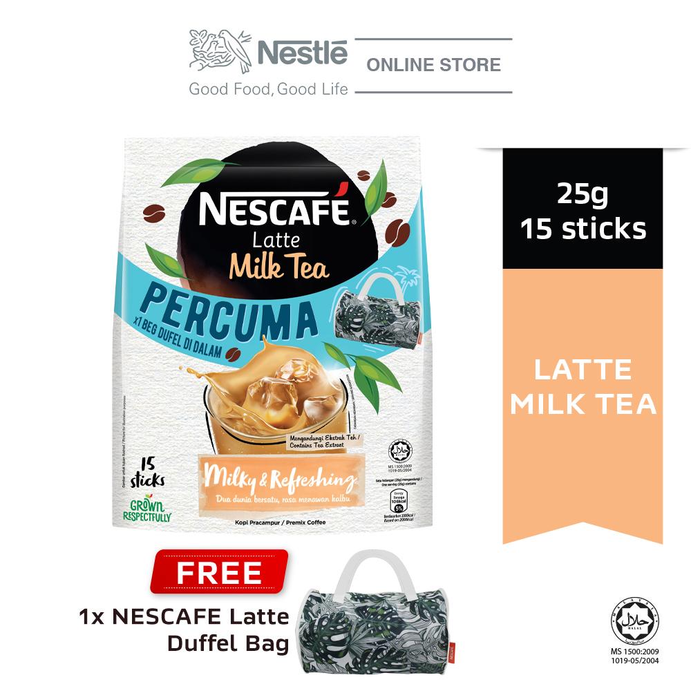 NESCAFE Latte Milk Tea 15x25g Free Duffel Bag