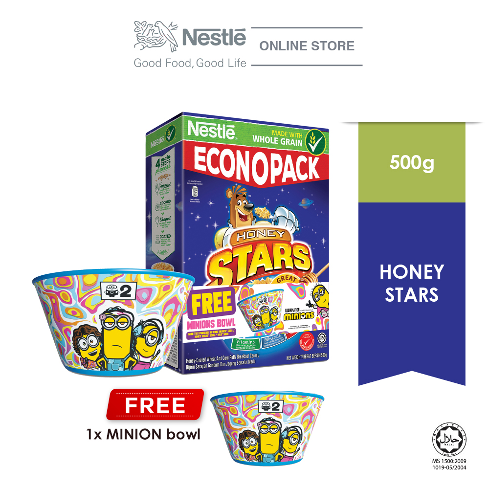Nestle HONEY STAR Econopack 500g FREE Minion Bowl