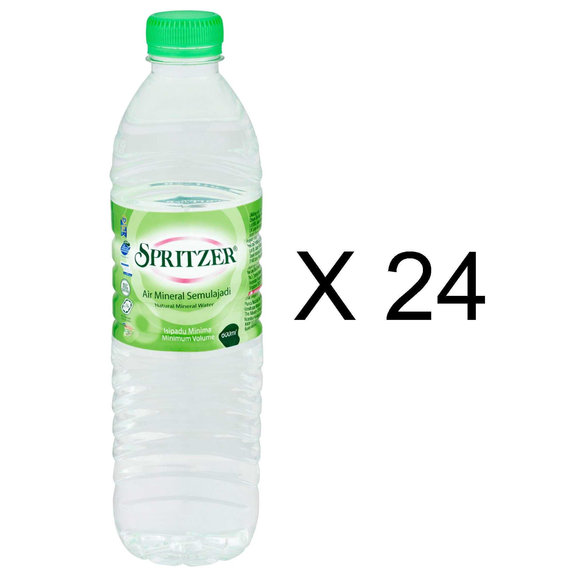Spritzer Natural Mineral Water (24 x 600ml)