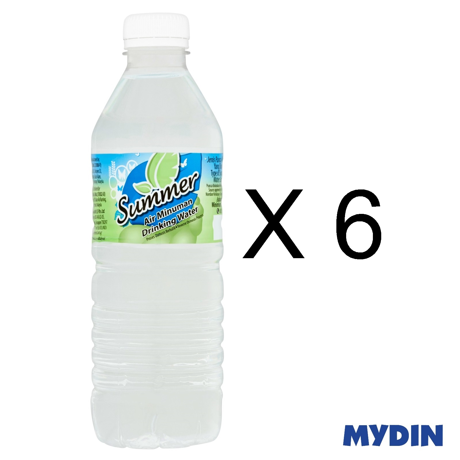 Summer Drinking Water (6 x 500ml)