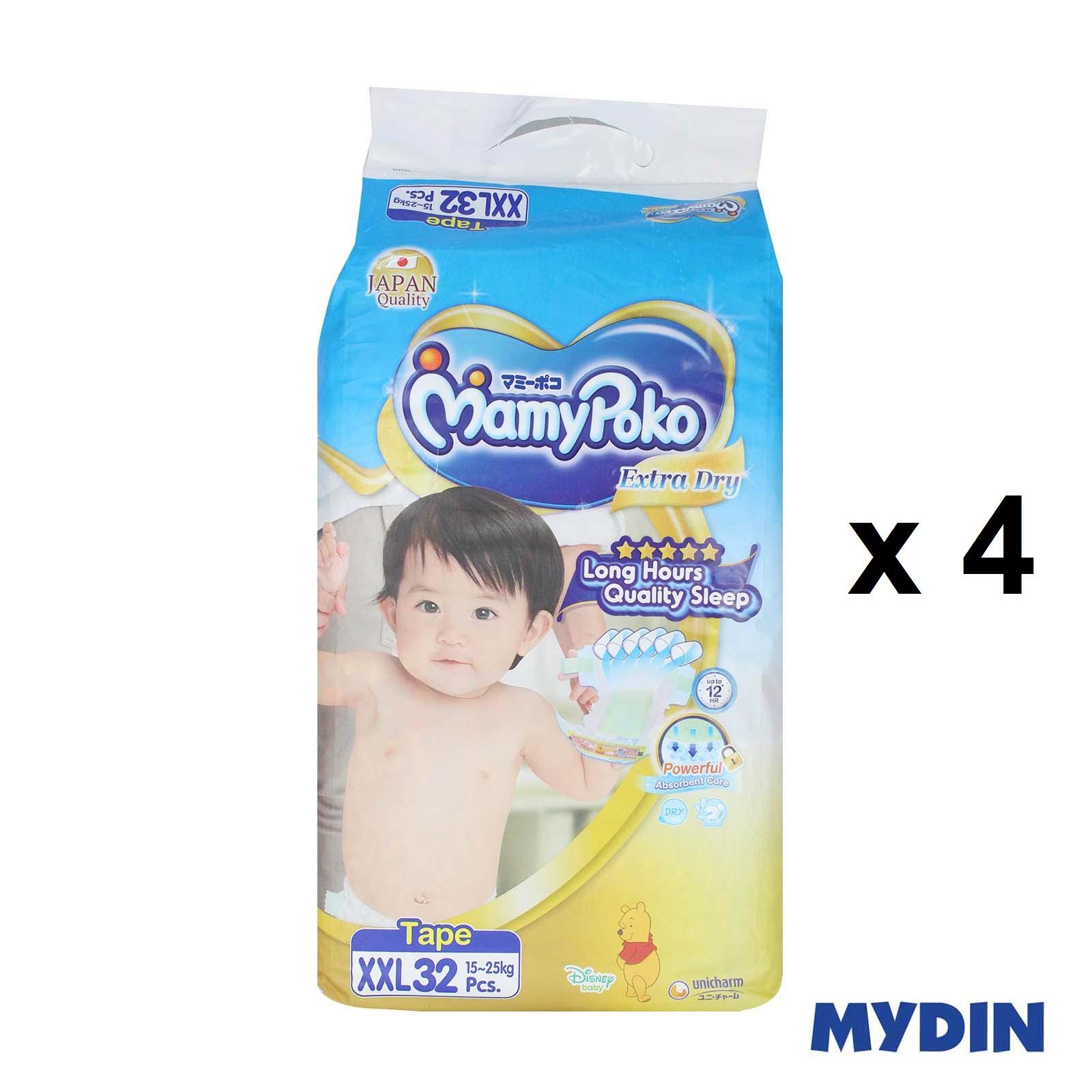 Mamypoko Open Tape Extra Dry XXL32 x 4 Packs