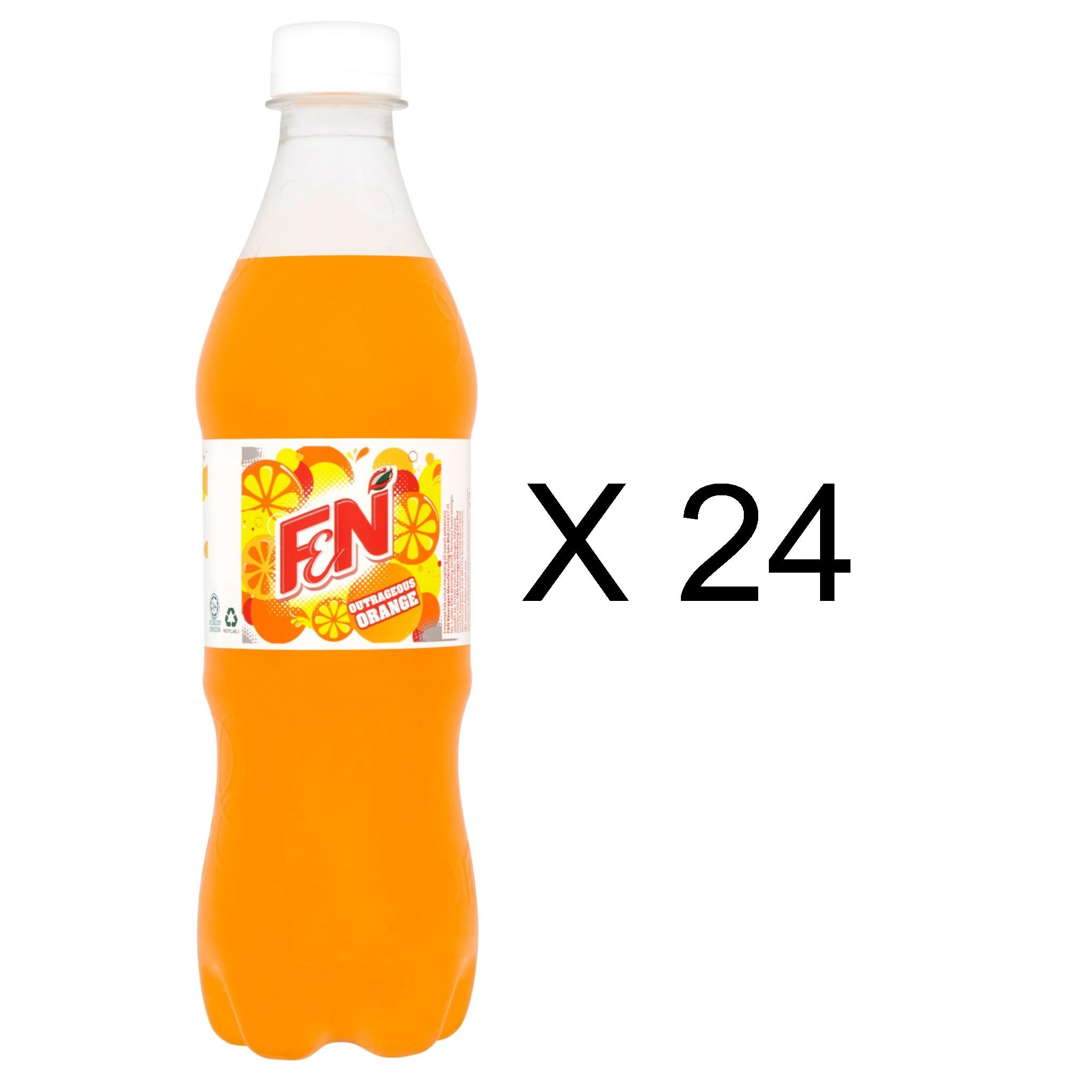 F&N Orange Carbonated Drinks (24 x 500ml)