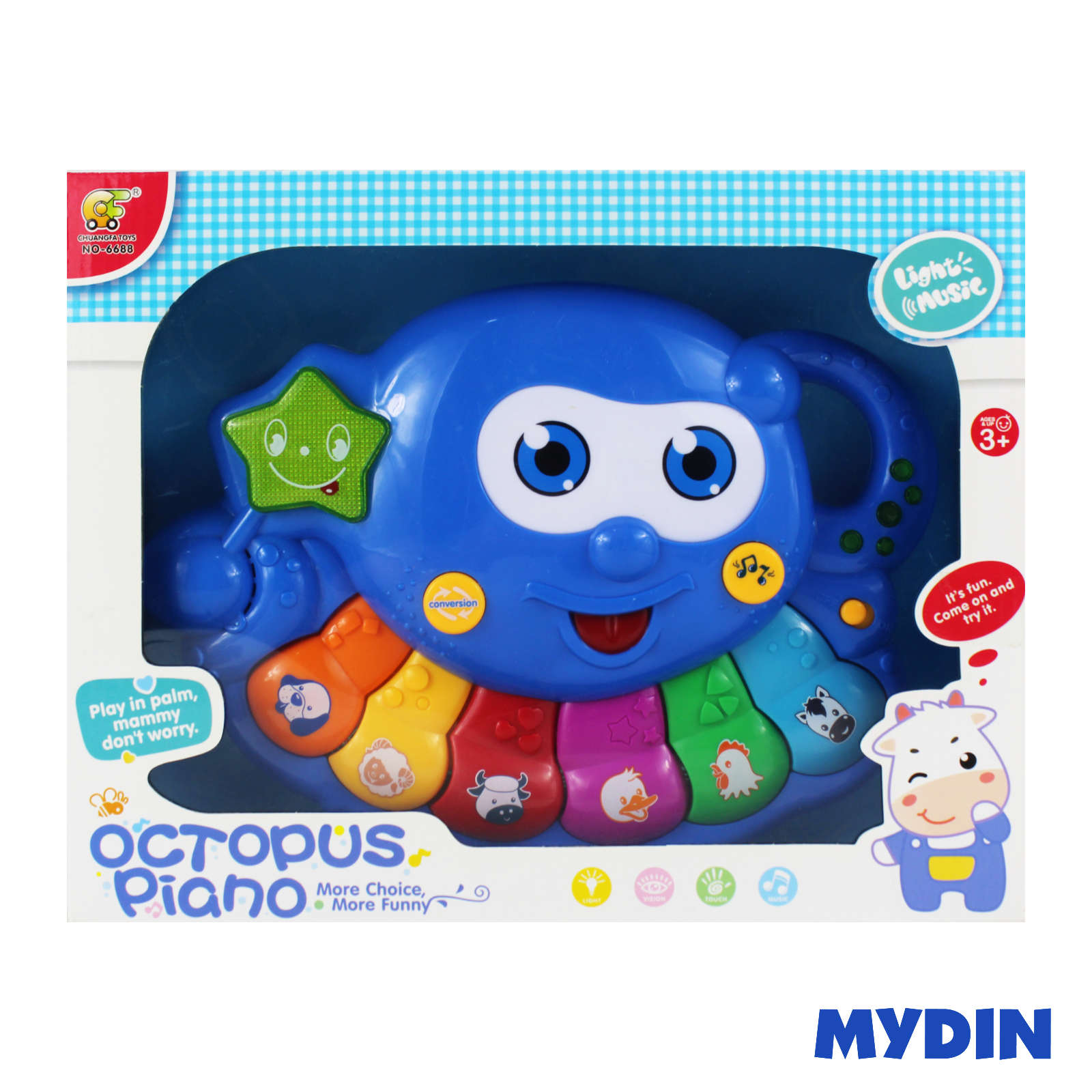Octopus Colourful Piano 3 Years+ No-6688-2000