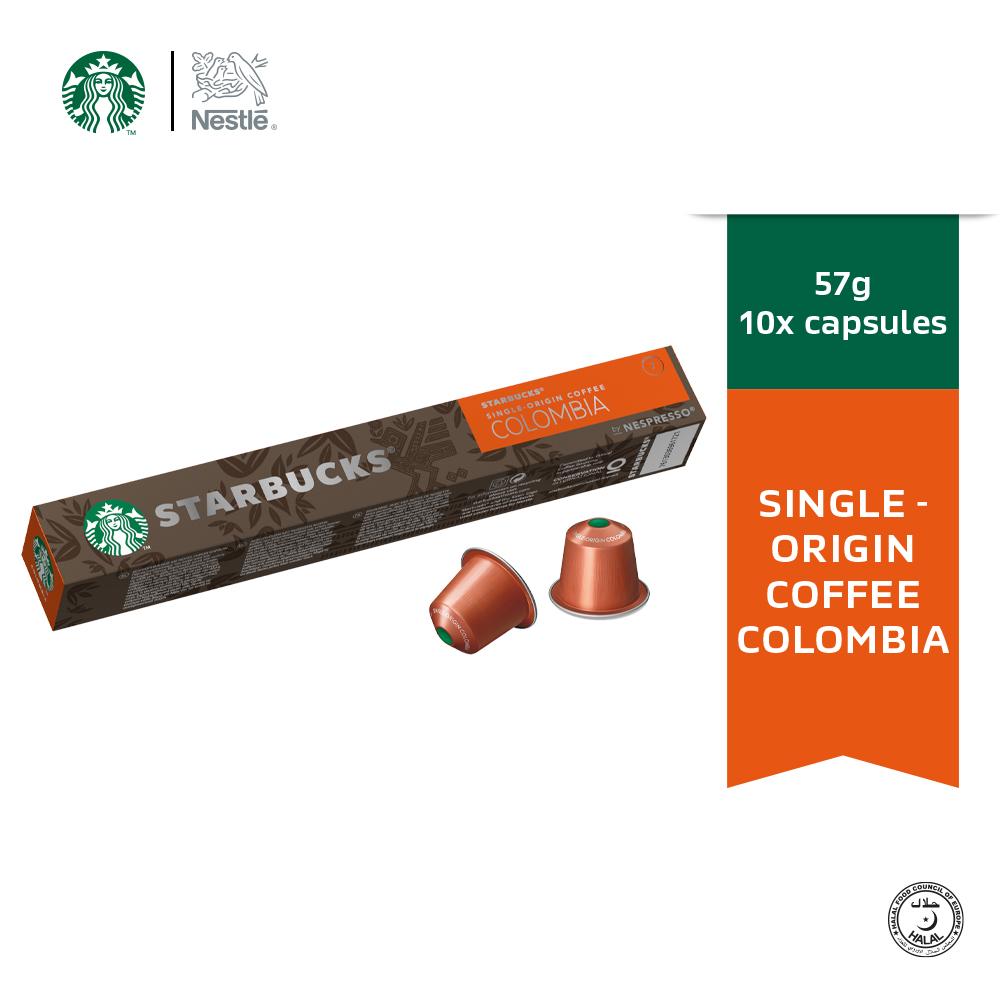 Starbucks® Single-Origin Colombia® by Nespresso® Medium Roast Coffee Capsules, 10 capsules