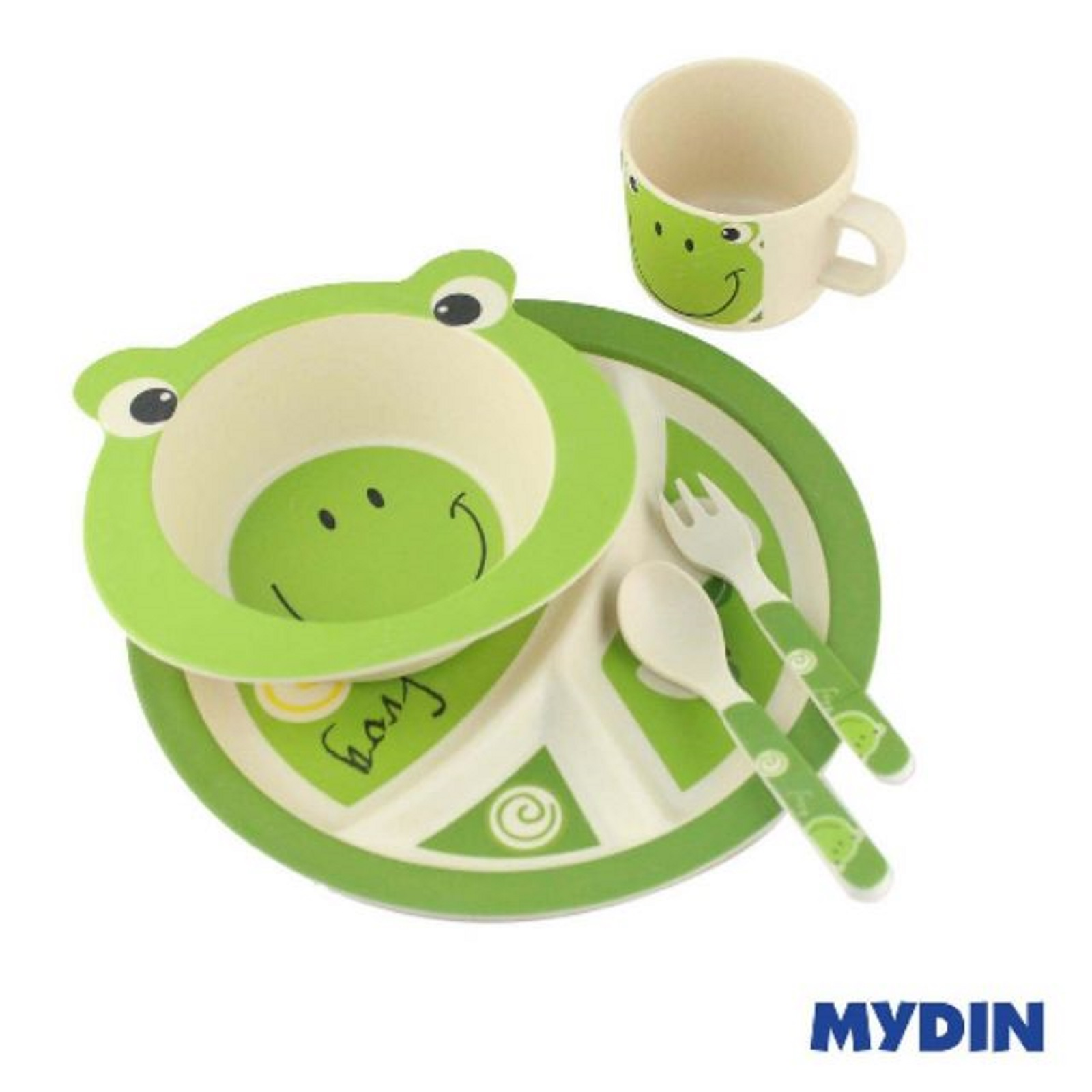 Assorted Eco-Friendly Yifeier Bamboo Fibre Kids Dinner Set (5's) RYJS1600-063