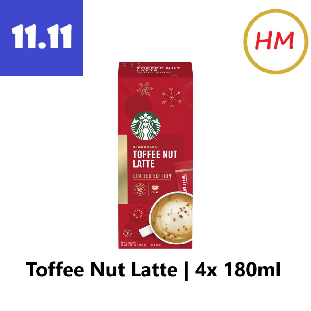 Starbucks Toffee Nut Latte Instant Coffee Mixes (4 Sticks/Box)