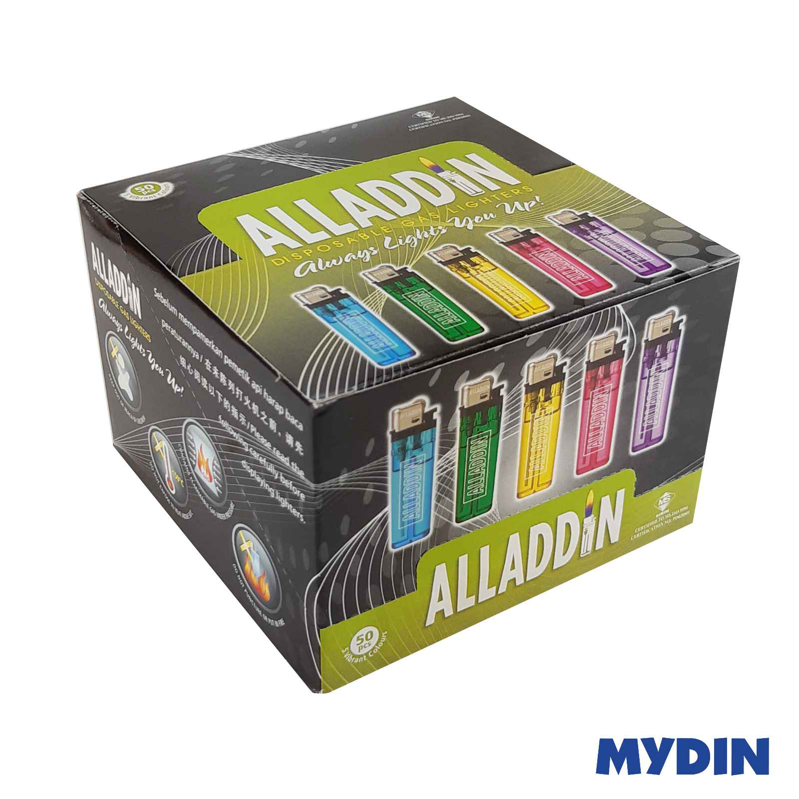 Alladin Disposable Lighter A001 (50pcs)