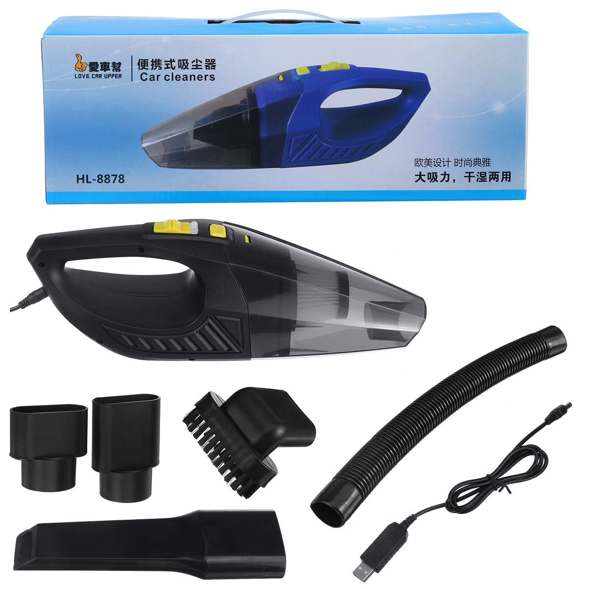 Rechargeable Wireless Wet Dry Car Vacuum Cleaner Mini Portable Handheld Vehicle Auto Home Cleaning Tool