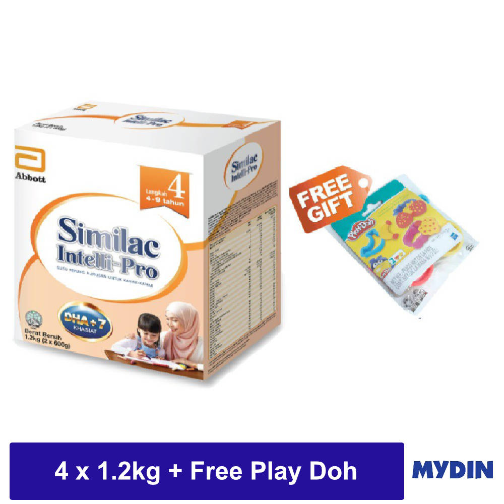 Similac Intelli-Pro Step 4 (4 x 1.2kg) [Free Play Doh While Stock Last]
