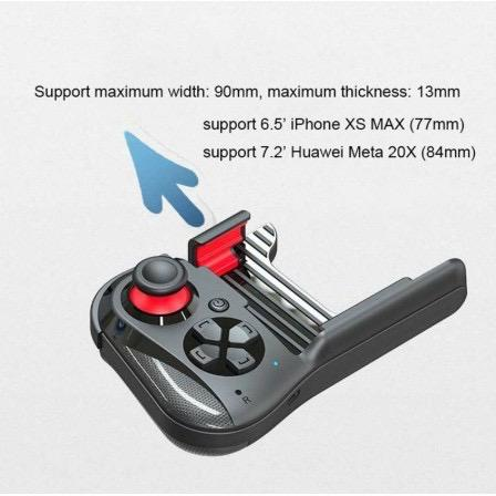 MOCUTE 059 PUBG Mobile Gaming Wireless one handed bluetooth Gamepad Controller Joystick Compatible Android iOS PC