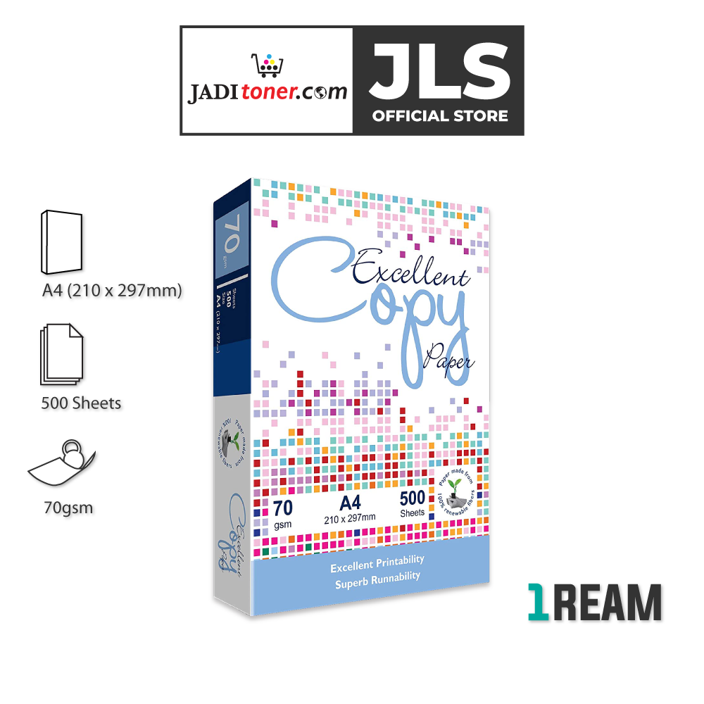 Excellent Copy A4 Paper (70gsm x 500 Sheets) - JADI LIFE