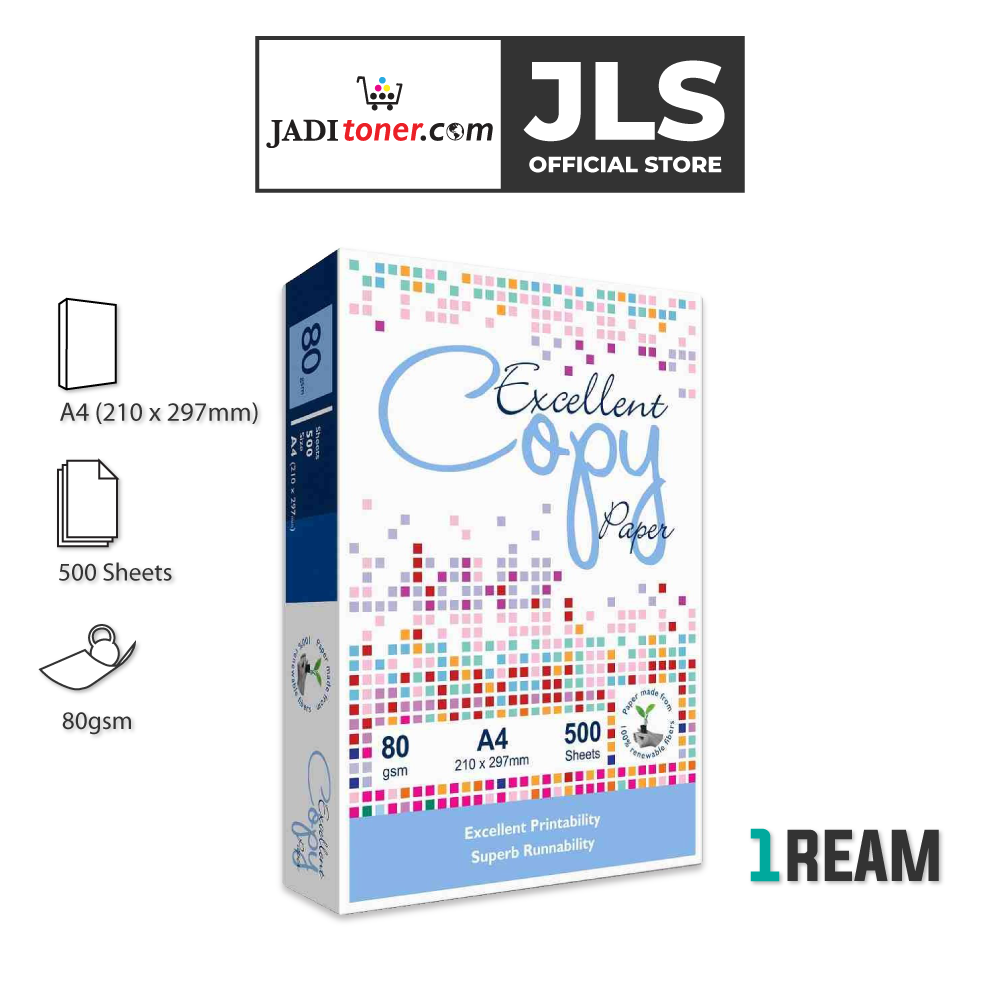Excellent Copy A4 Paper (80gsm x 500 Sheets) - JADI LIFE