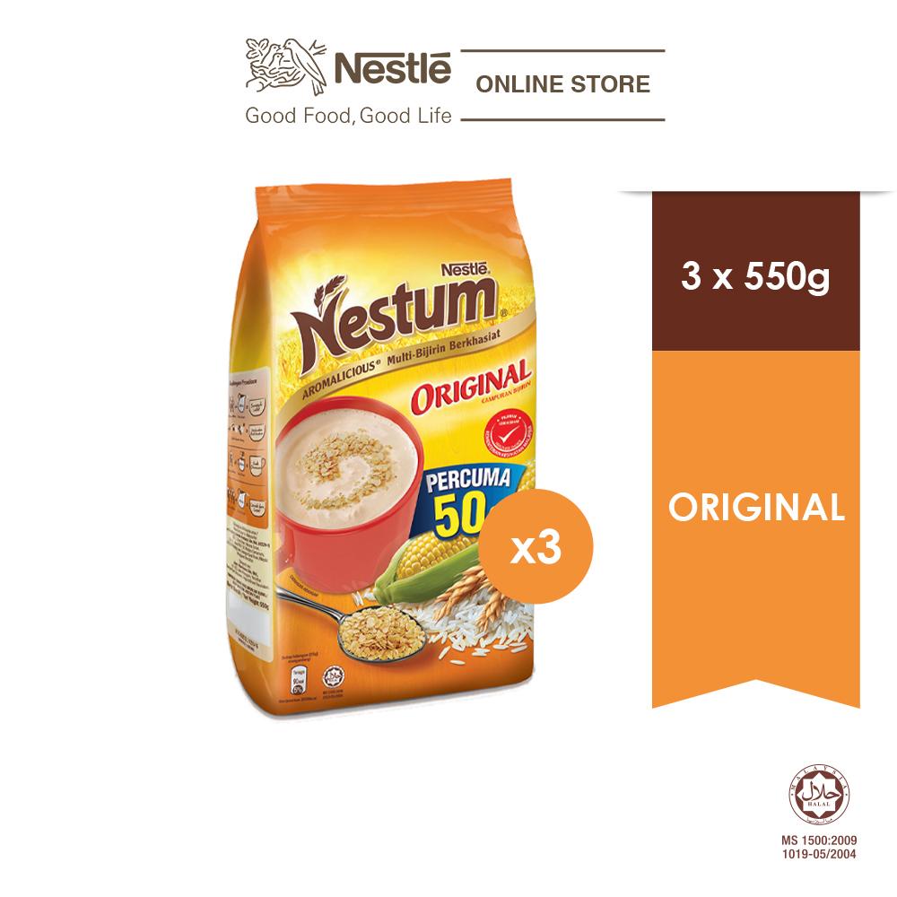 NESTLÉ NESTUM All Family Cereal Original Softpack 550g x3 packs