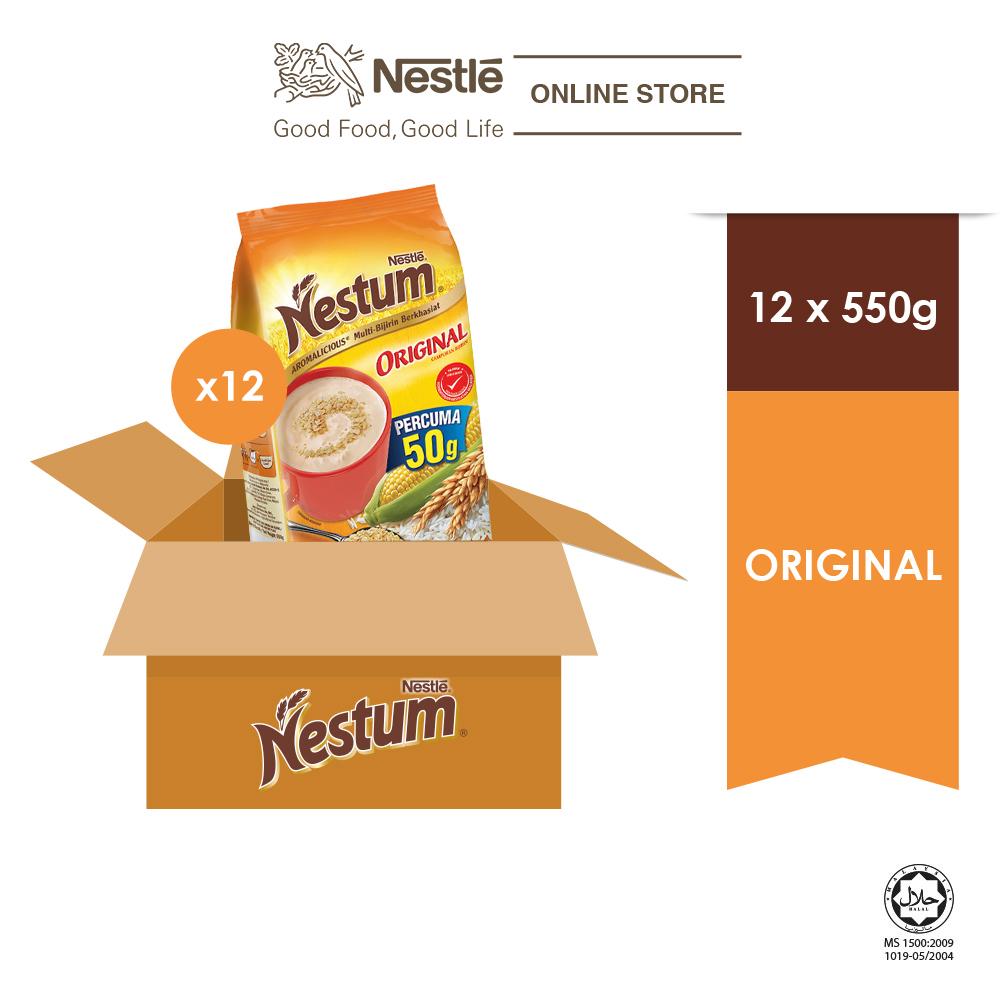 NESTLE NESTUM All Family Cereal Original Softpack 550g, x12 packs