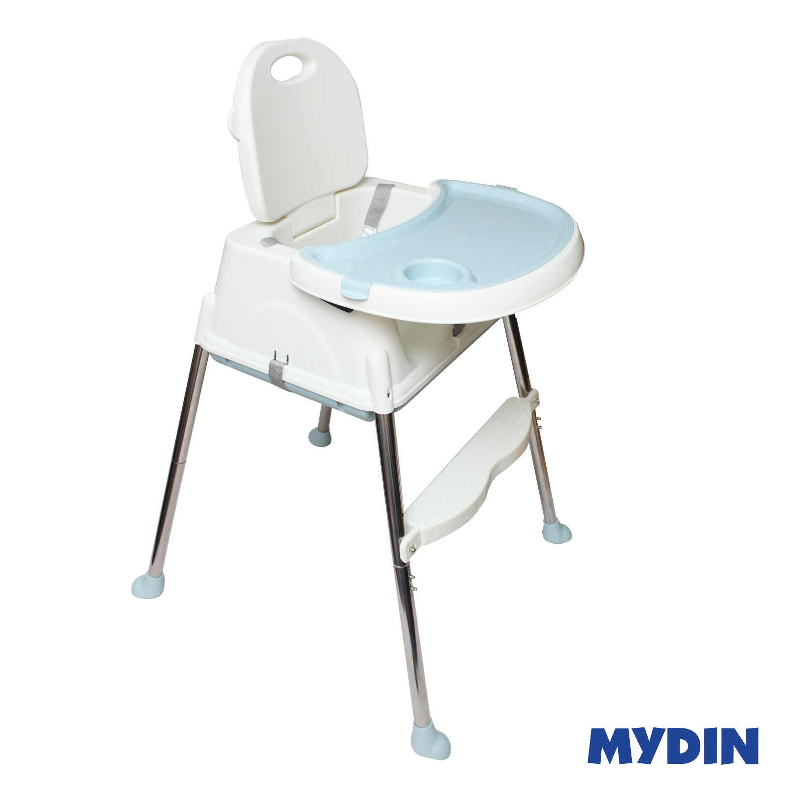 MYBB Portable Multi Function Foldable Baby Feeding Dining ChairBlue 0820YW-HE01A