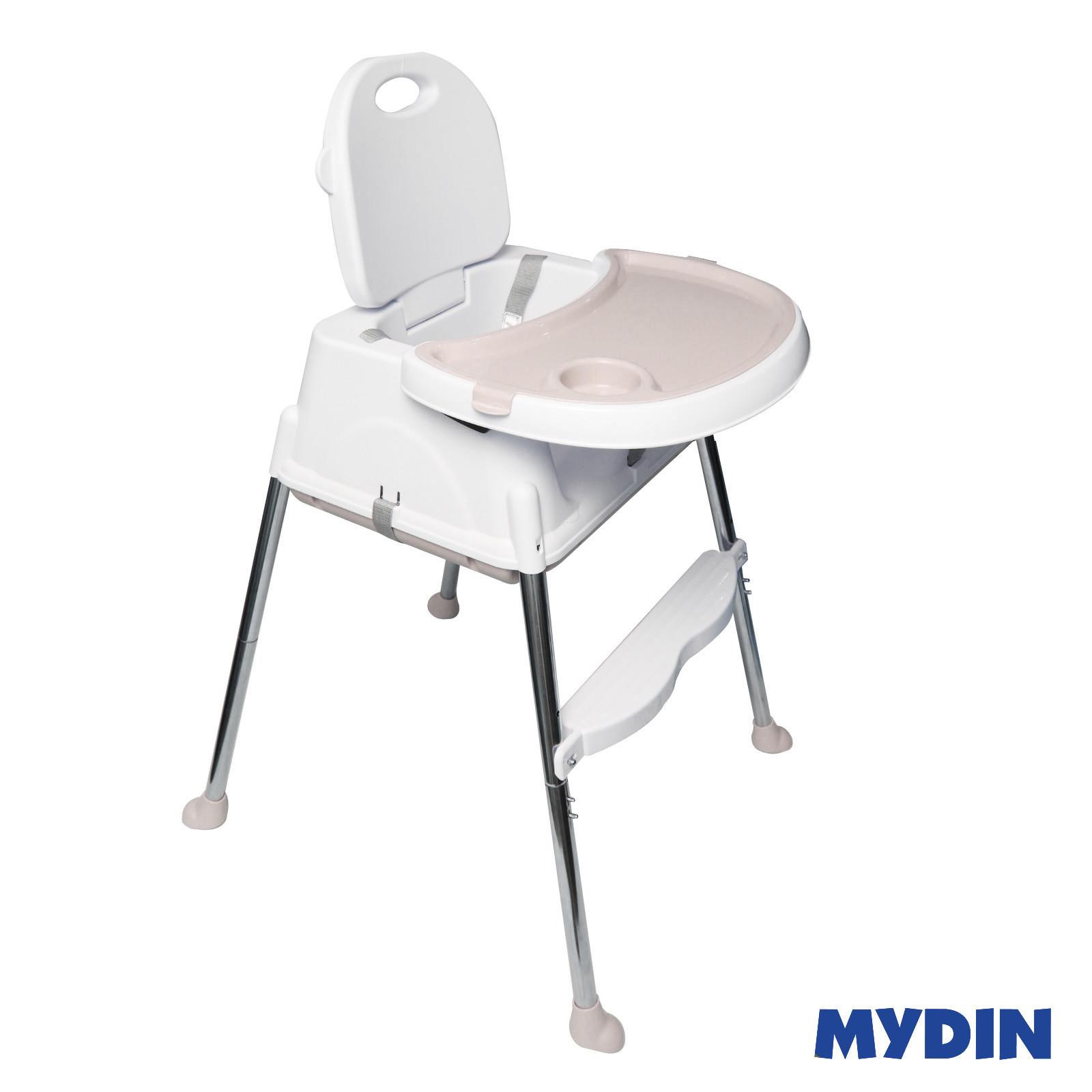 MYBB Portable Multi Function Foldable Baby Feeding Dining ChairWhite 0820YW-HE01C