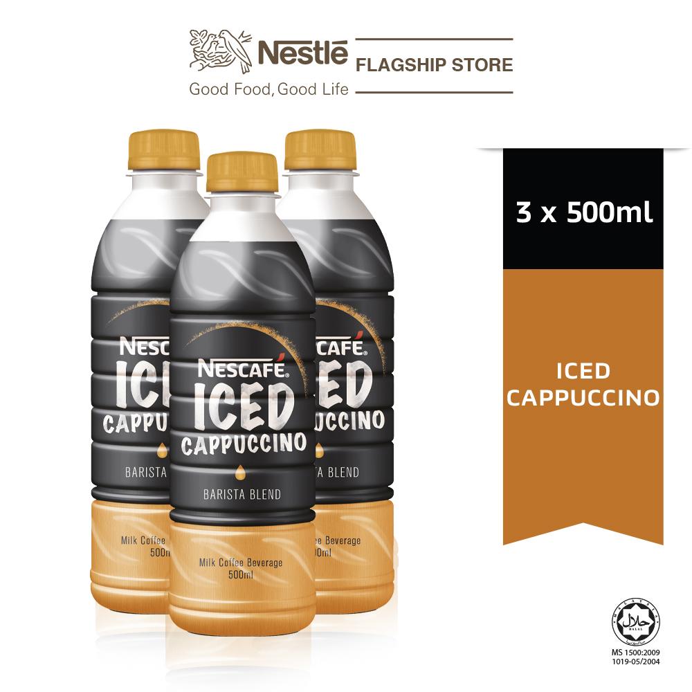 NESCAFÉ Iced Cappuccino 500ml x3 bottles, ExpDate: Jul21