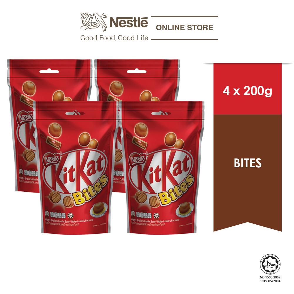 Nestle KITKAT Chocolate Bites 200g , Bundle of 4
