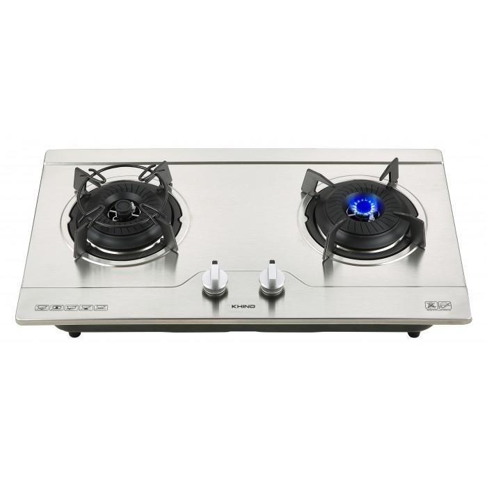 Khind 2 Burner Gas Cooker Hob Dapur built-in HB802S2