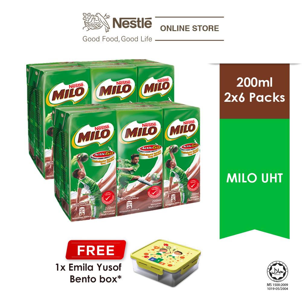Nestle Milo UHT 6x200ml Cluster Buy 2 Free 1 Milo Bento Box