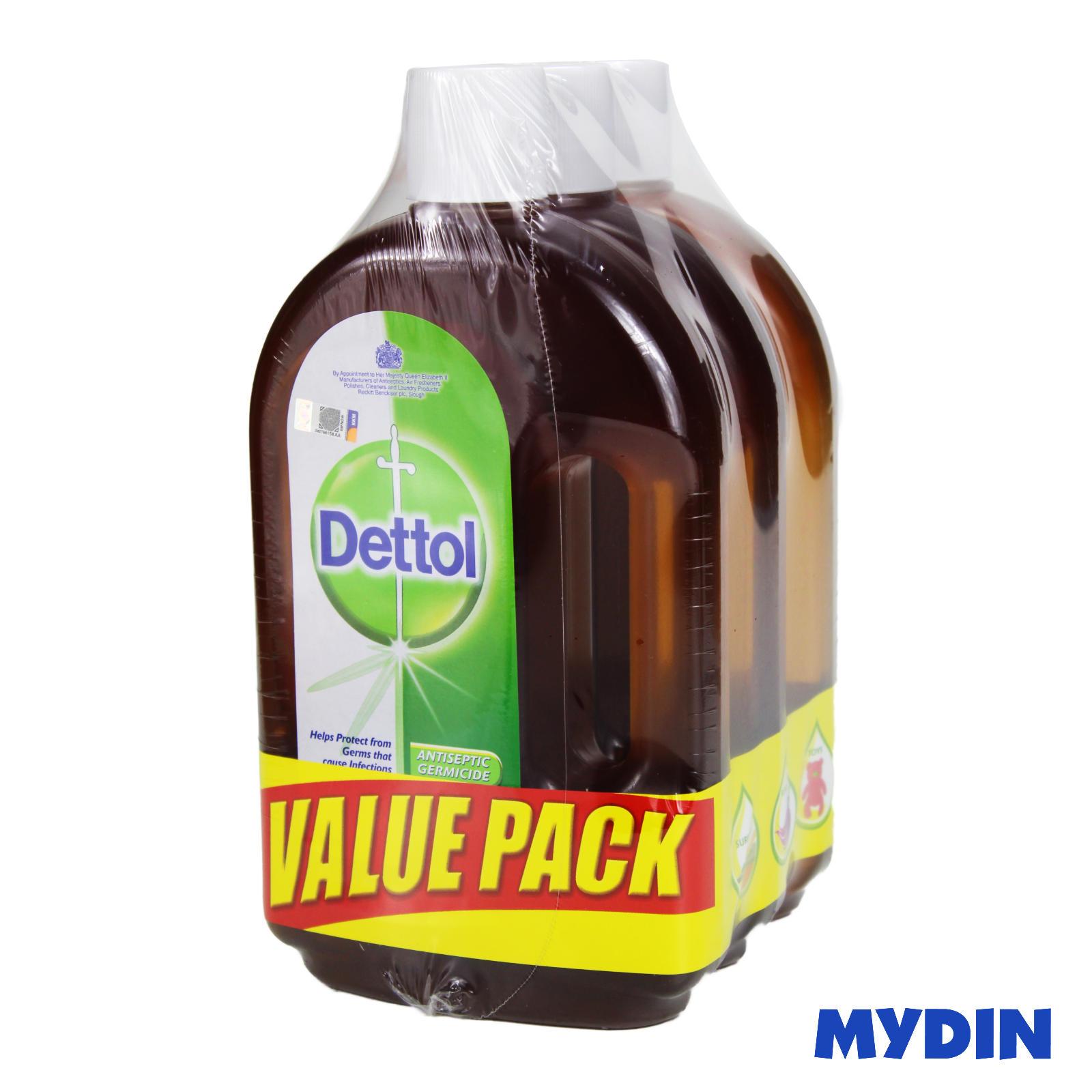 Dettol Antiseptic Liquid (750ml x 3) - Value Pack