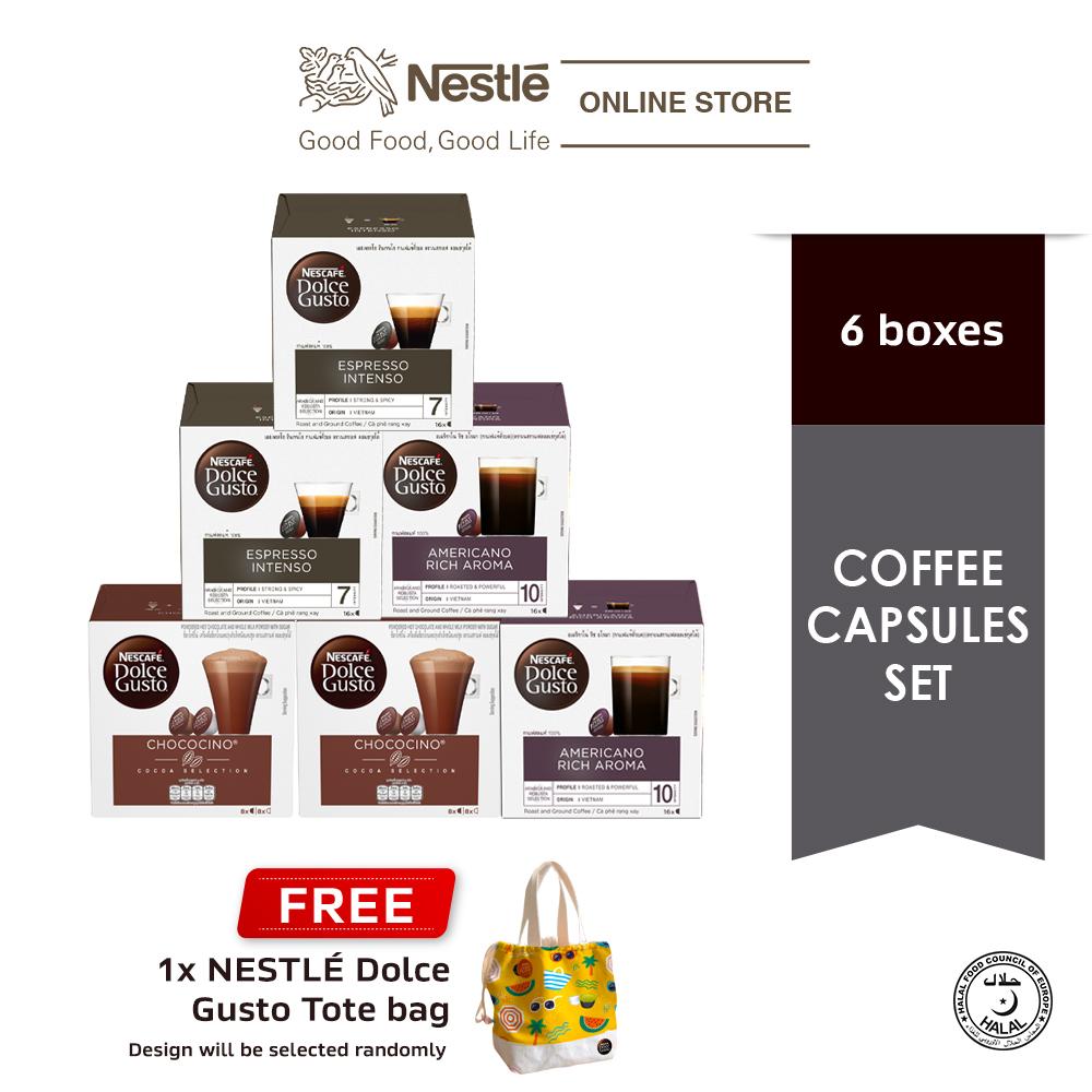 NESCAFE Dolce Gusto Black Capsule Bundle Free NDG Tote Bag