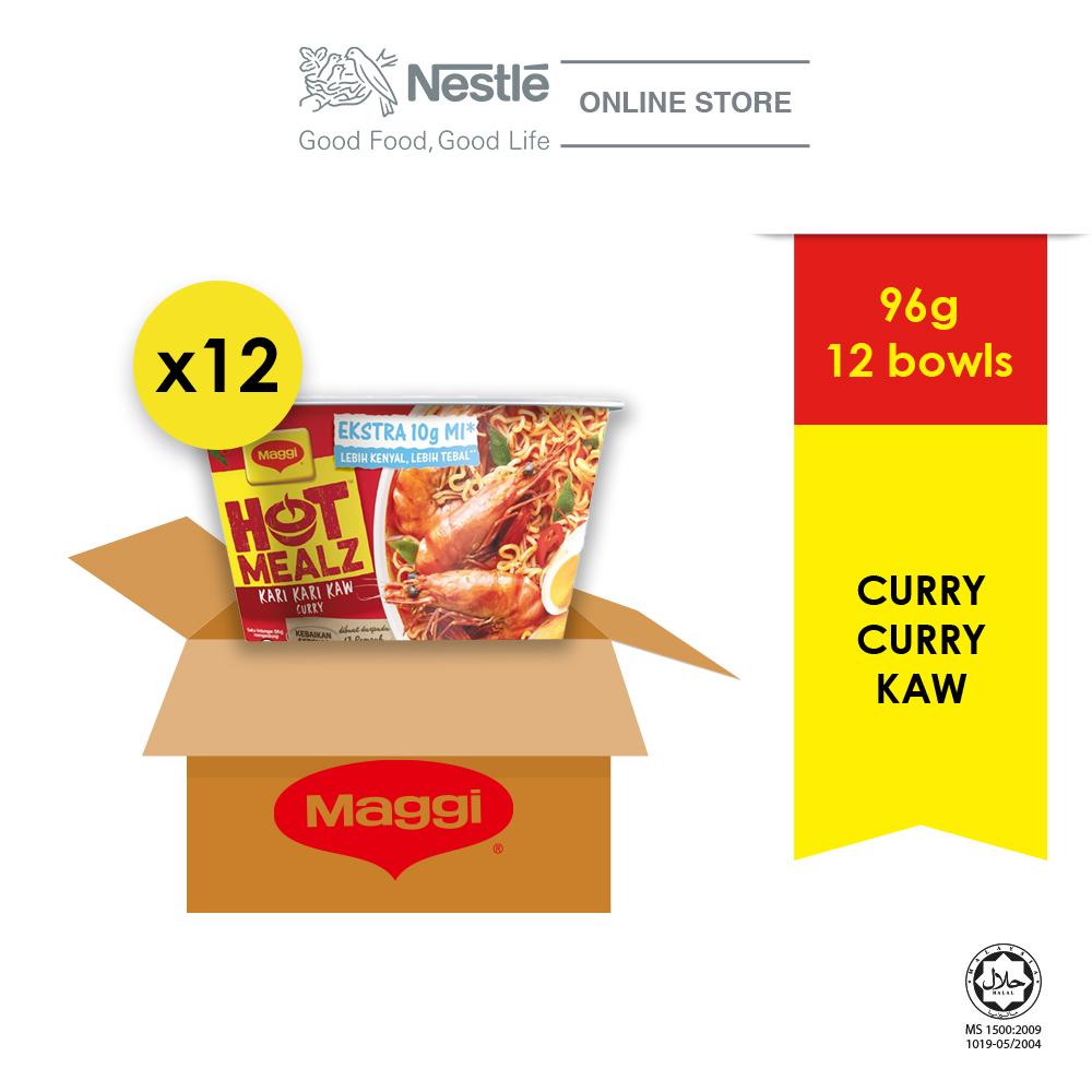 MAGGI Hot Mealz Kari Kari Kaw 89g x 12 Bowl (1 Carton) EXP Date: MAR'21