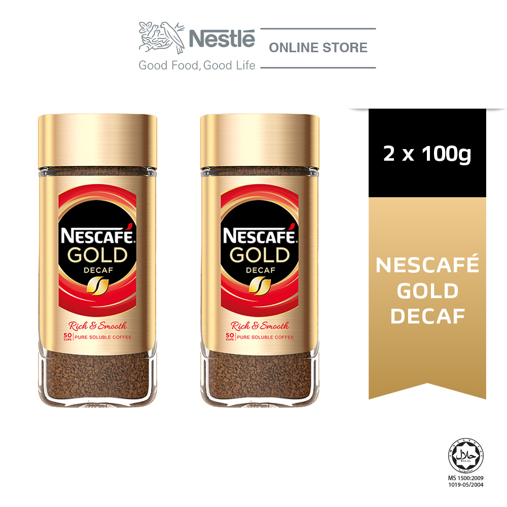 NESCAFE Signature GOLD Decaf Jar 100g x2 jars