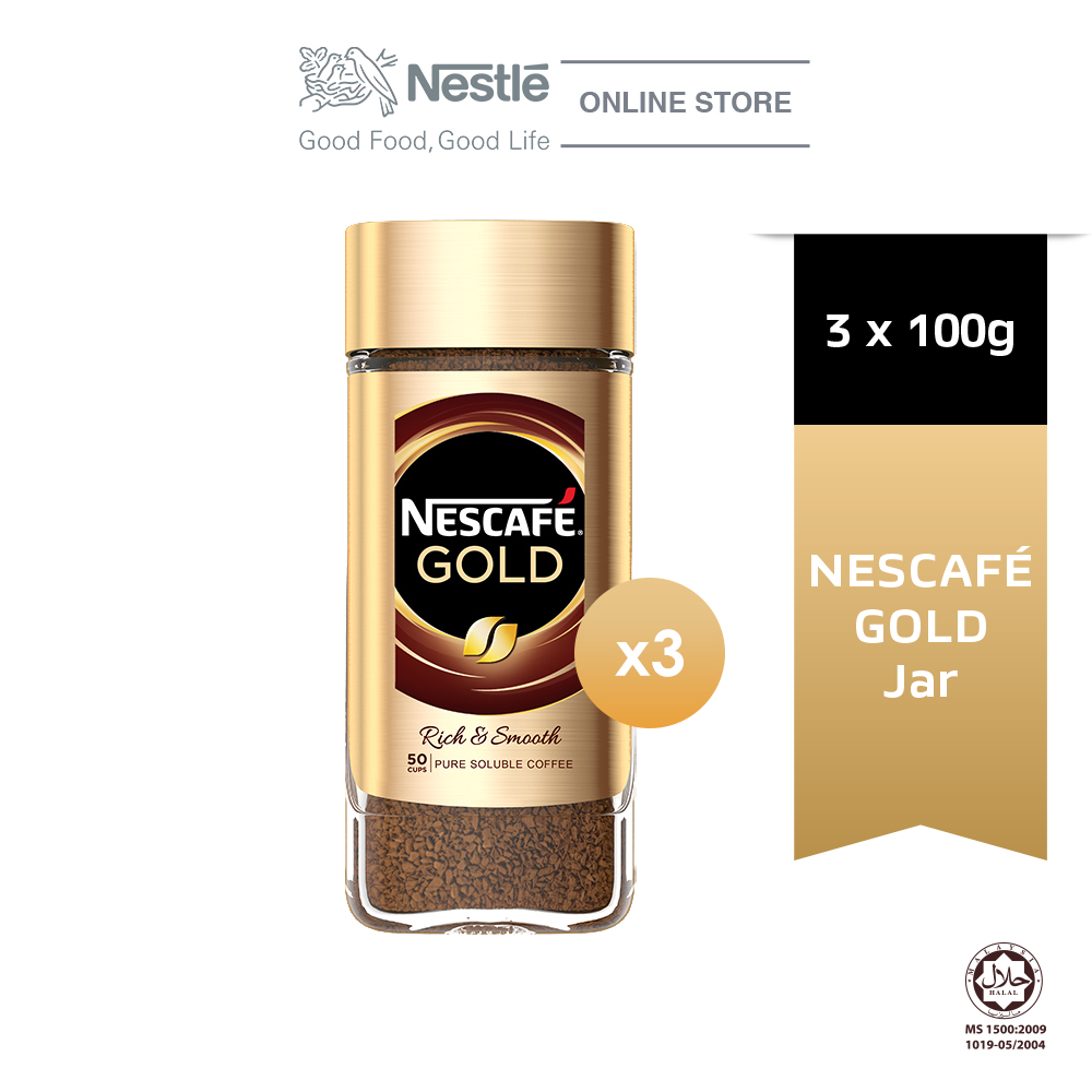 NESCAFE Signature GOLD Jar 100g x3 jars