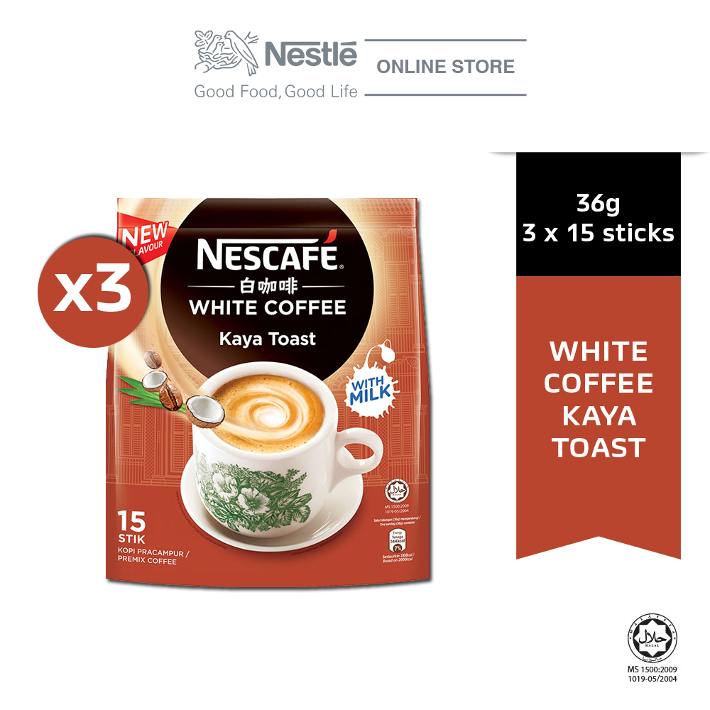 NESCAFE White Coffee Kaya Toast 15ticks x 36g x3 packs