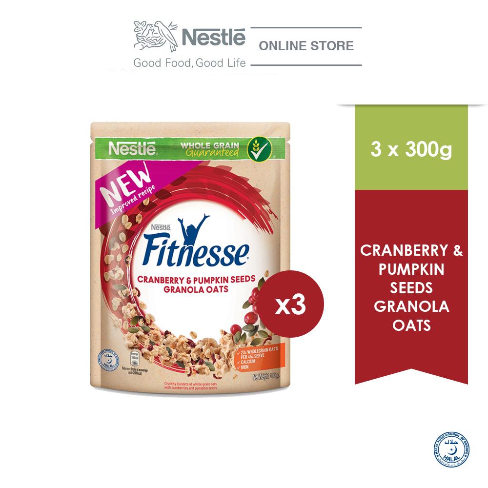 NESTLÉ FITNESSE Granola Oats Cranberry & Pumpkin Seed 300g x3 packs