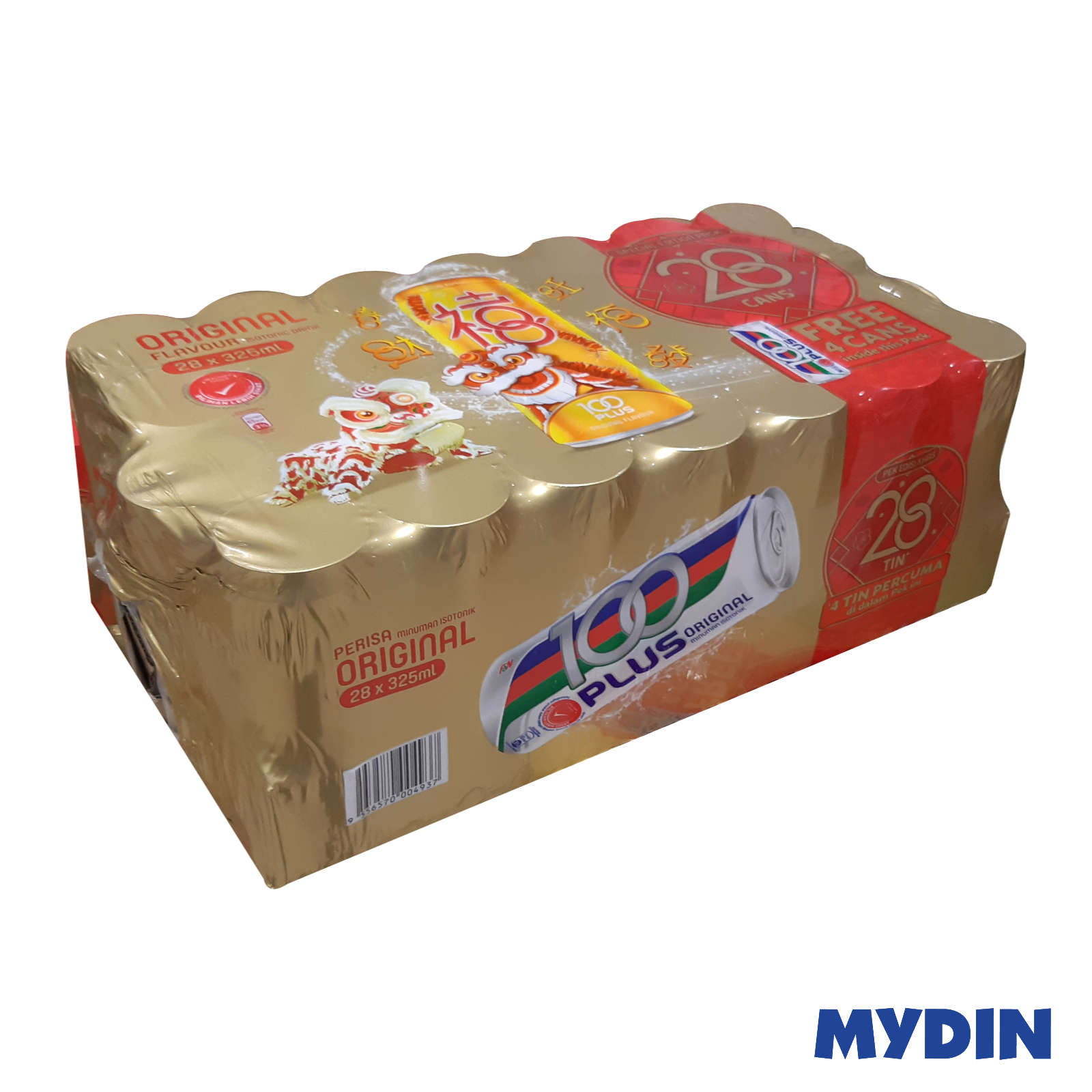 CNY 100 Plus Regular Isotonic Drinks (24 + 4 x 325ml)