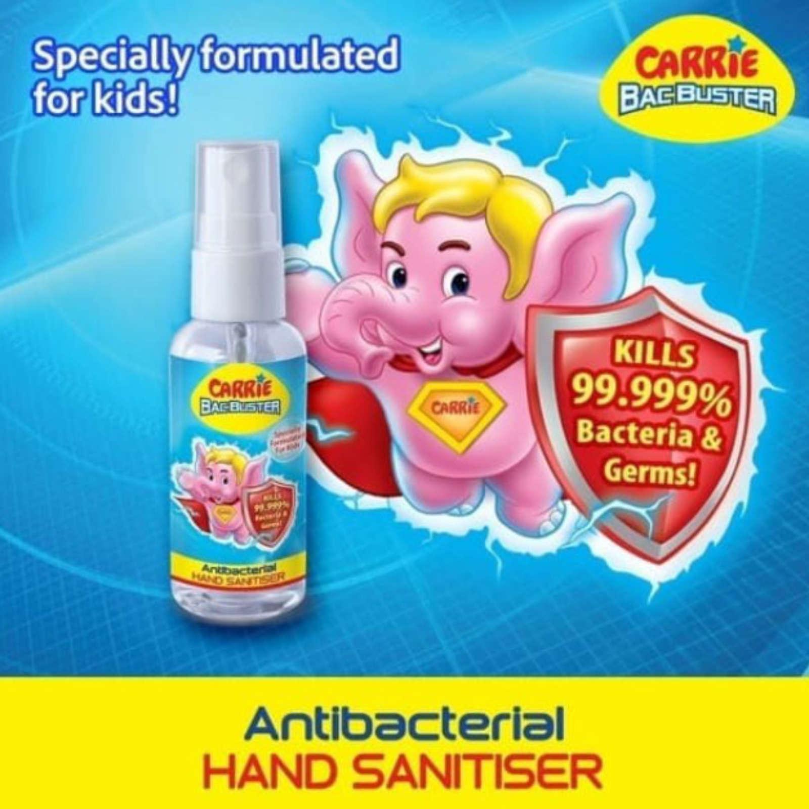 Carrie Bacbuster Antibacterial Hand Sanitiser Spray 50ml
