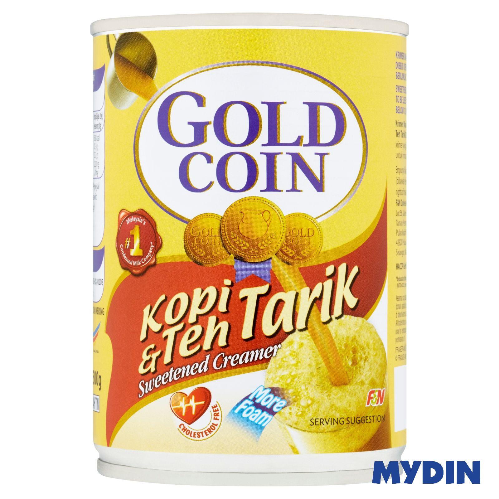F&N Gold Coin Kopi & Teh Tarik Sweetened Creamer (500g)