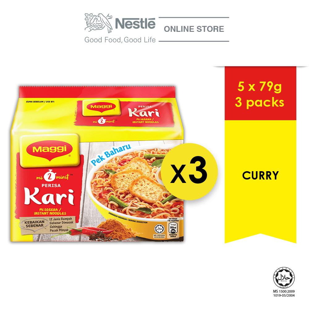 New-MAGGI 2-MINN Curry 5x79g x 3  (Bundle of 3)
