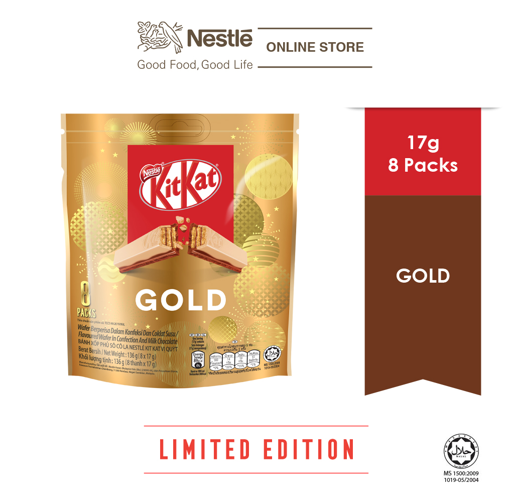 Nestle KITKAT Gold Chocolate 2F 8x17g each