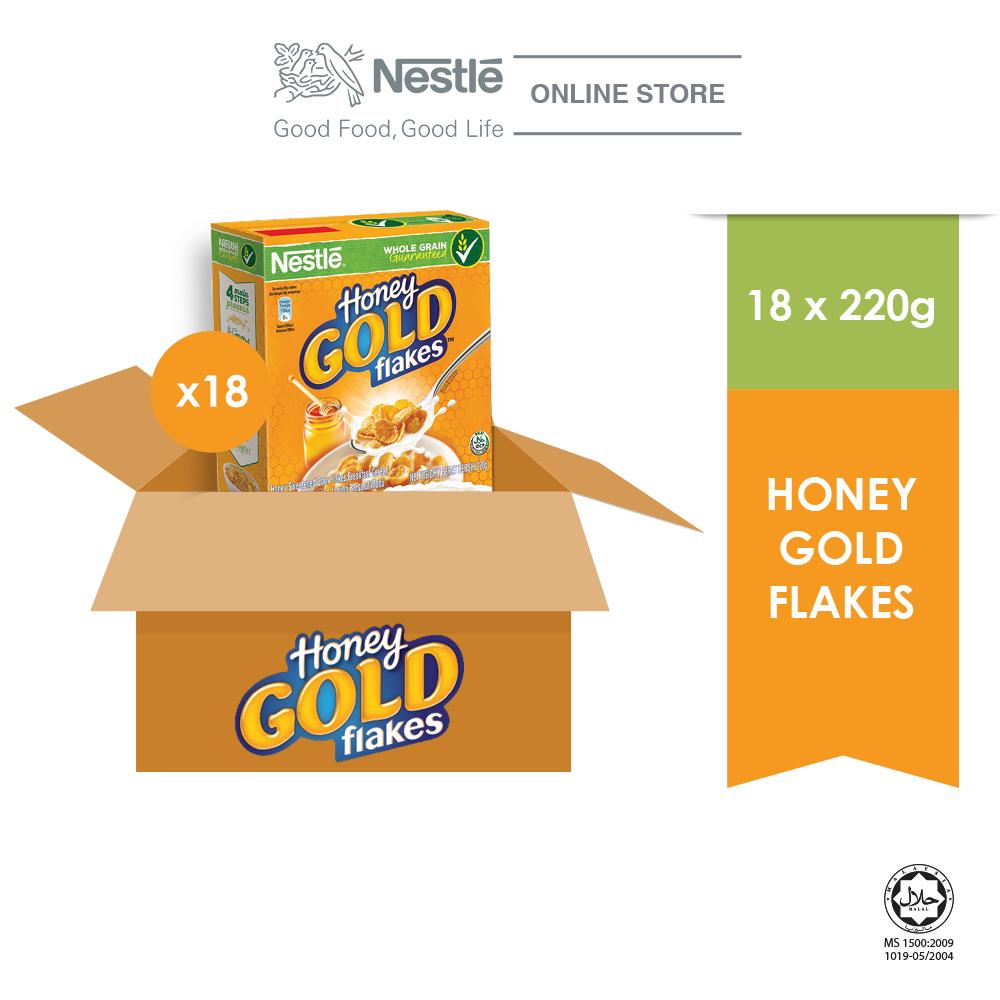 Nestle Gold Honey Flakes 220g x 18 box (Carton)