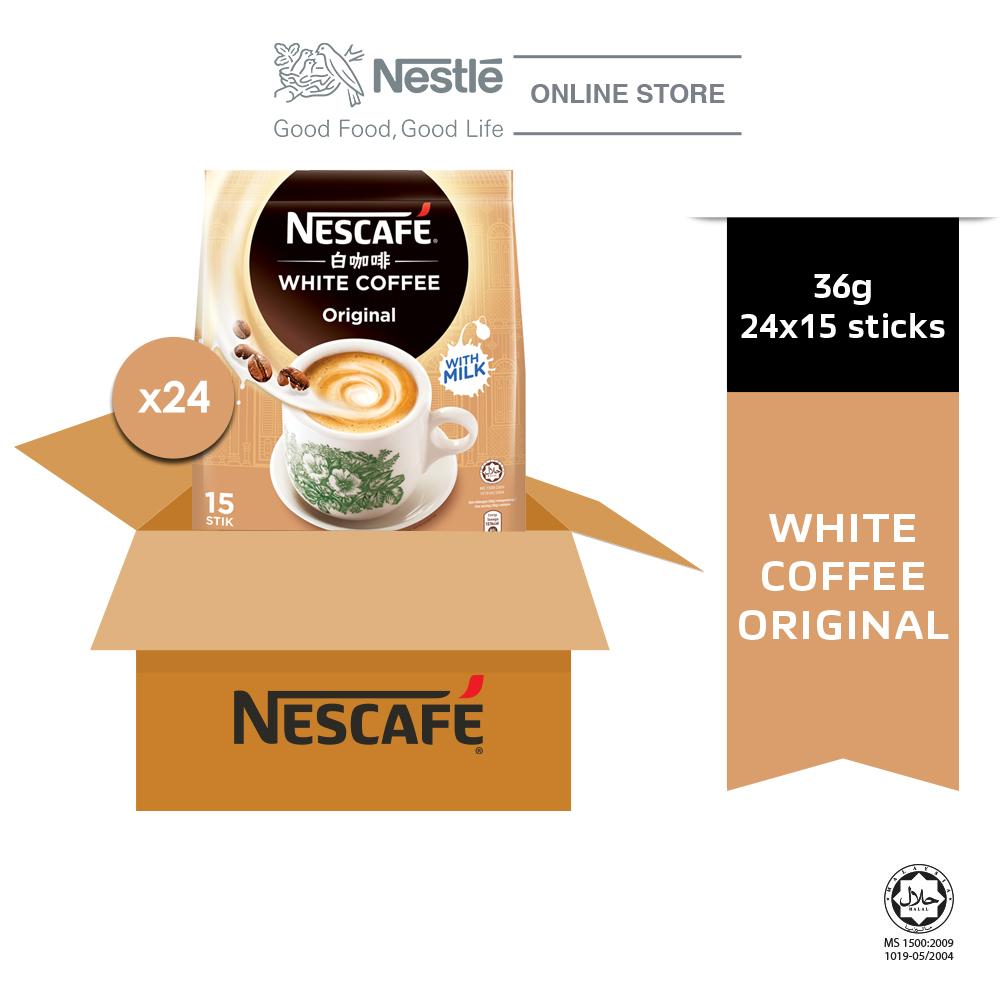 NESCAFE White Coffee Original 15 Sticks 36g x 24 Pack