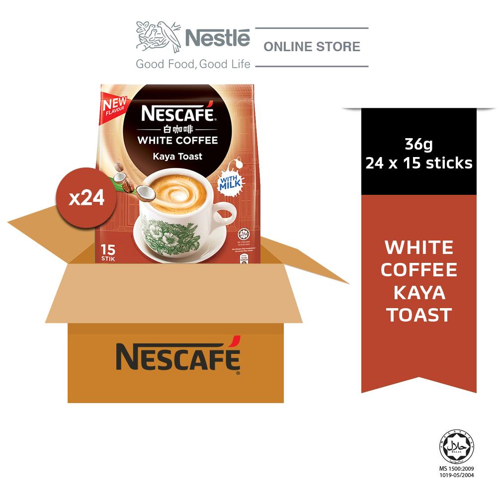 NESCAFE White Coffee Kaya Toast 15ticks x 36g x 24 packs (Carton)