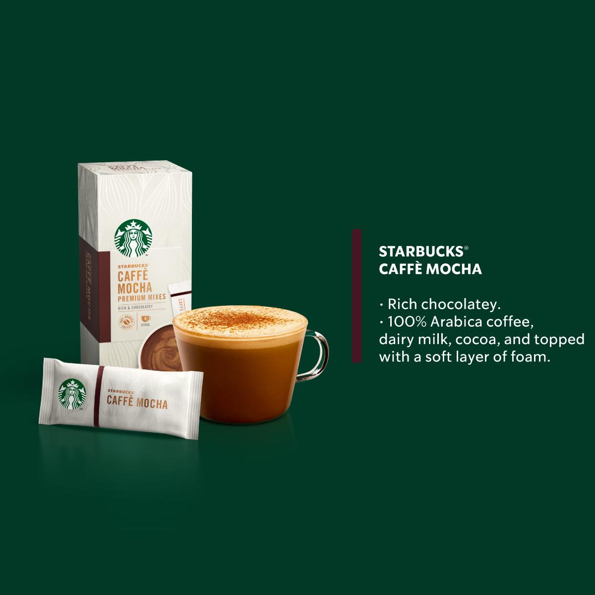 STARBUCKS Mocha and Latte Premium Instant (4x22g) x4 boxes, FREE Notebook