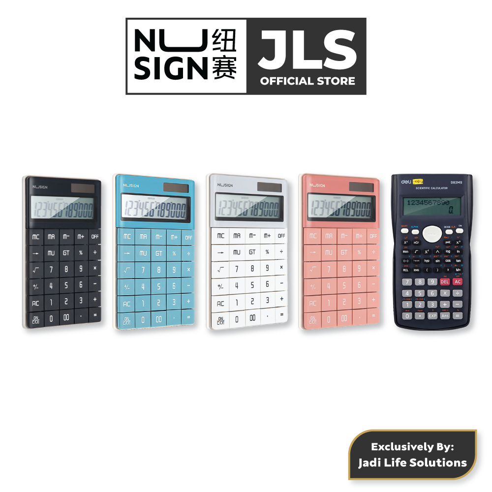 Jadi Nusign Grand Calculator Color Set with Jadi Deli 2-Line Scientific Calculator in Dark Blue