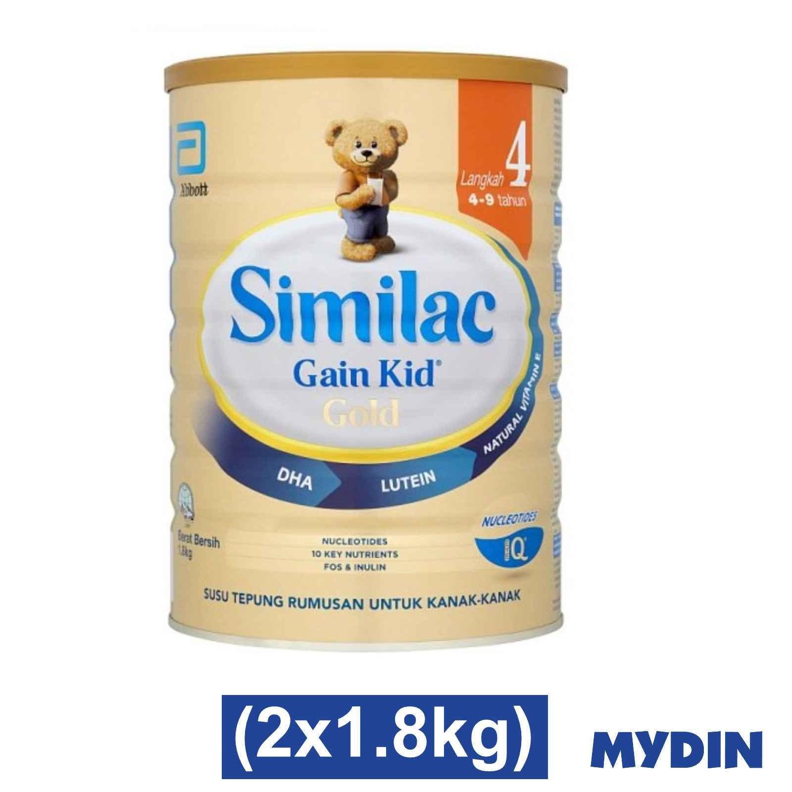 Similac Gain Kid Gold Step 4 (1.8kg x 2)