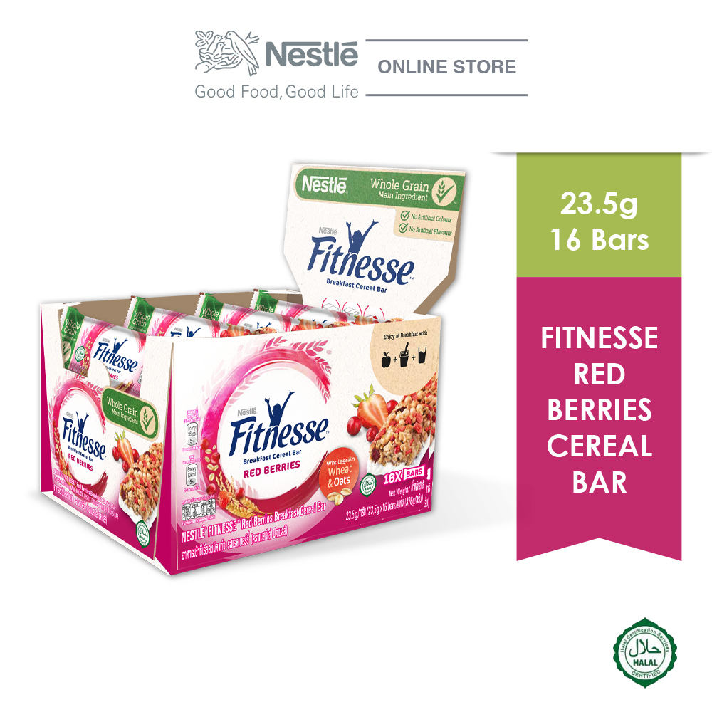 Fitnesse Red Berries Cereal Bar 16x23.5g
