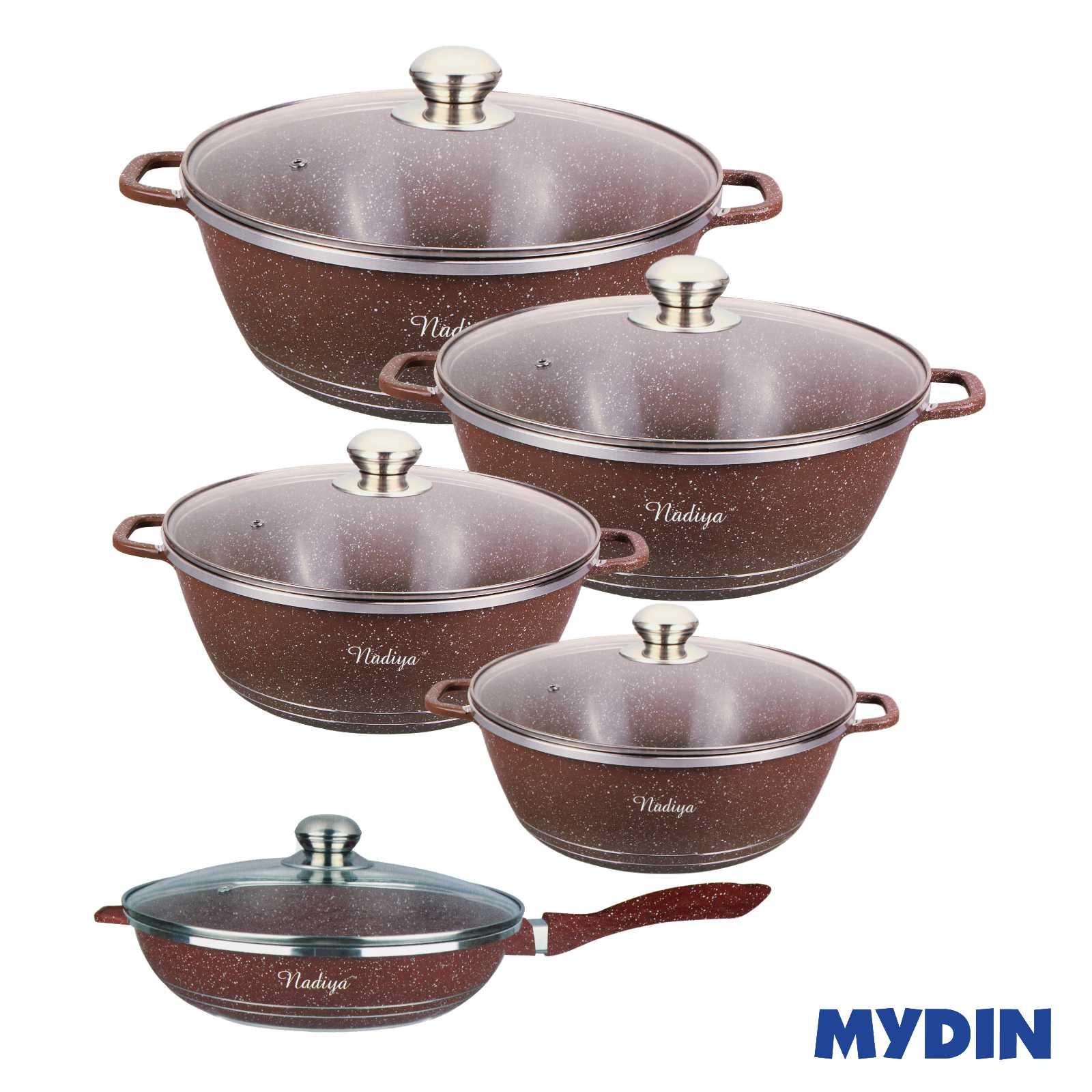 Nadiya Non-Stick Cookware Set (12pcs) NCS20000-001