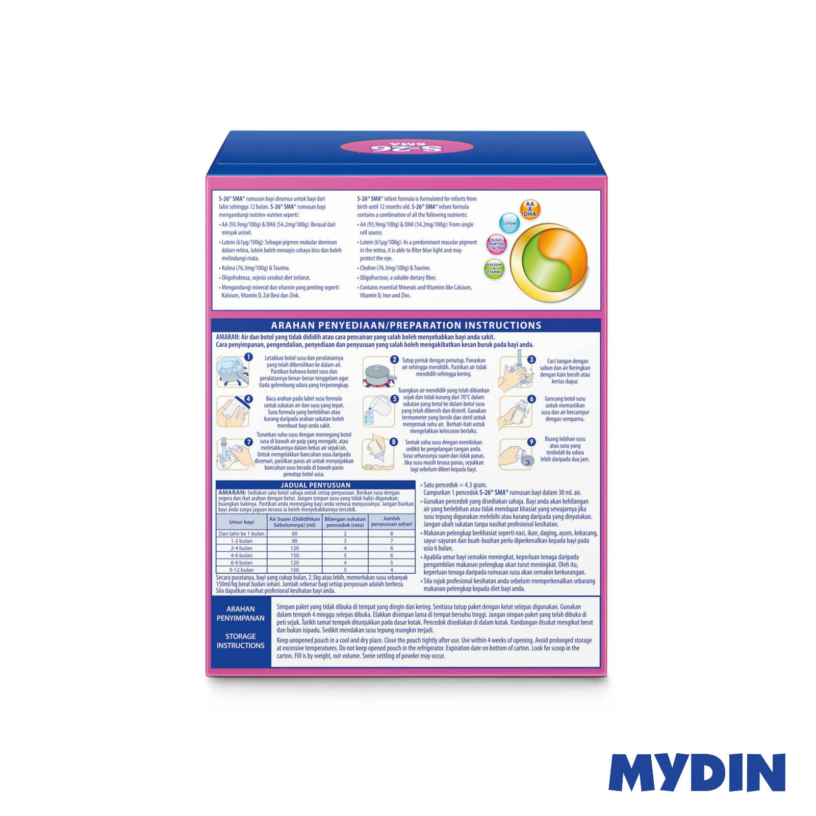 Wyeth S26 SMA Step 1 Infant Milk Powder (1.2Kg)