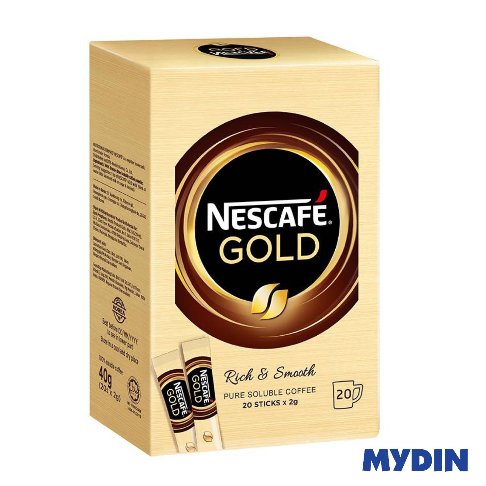 Nescafe Gold Rich & Smooth (20 x 2g)